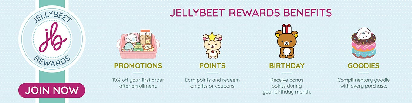 Jellybeet rewards banner featuring benefits of being a rewards member. Click to learn more!
